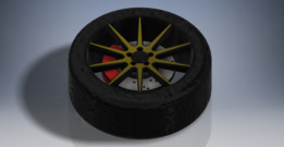 Black & Gold Wheel Design