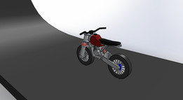 Motion Study of a Motorcycle suspension on jump