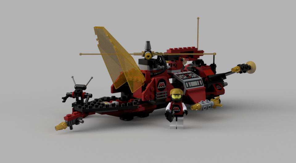 Lego 6923 Particle Ionizer | 3D CAD Model Library | GrabCAD