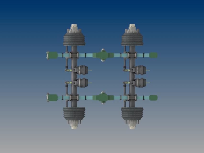 Reyco 4 Spring 60K Suspension | 3D CAD Model Library | GrabCAD