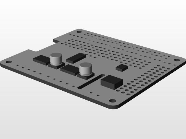 Adafruit DC & Stepper Motor HAT for Raspberry Pi | 3D CAD Model