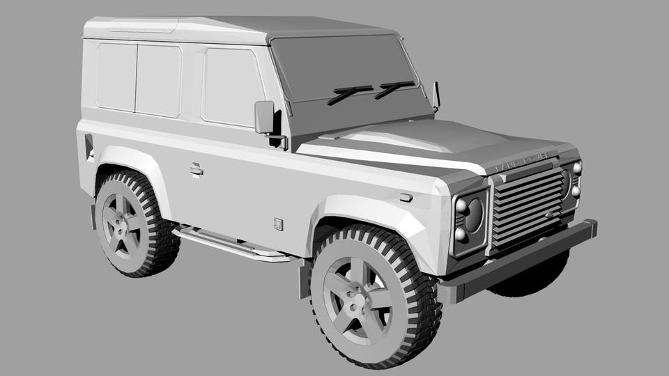 Land Rover Defender 90 | 3D CAD Model Library | GrabCAD