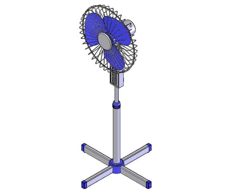 Stand Fan Model : Stand fan solidworks d cad model grabcad
