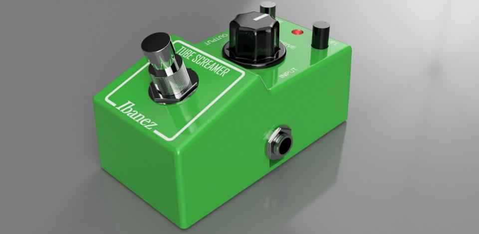 Ibanez Tube Screamer Mini Guitar Effect Pedal | 3D CAD