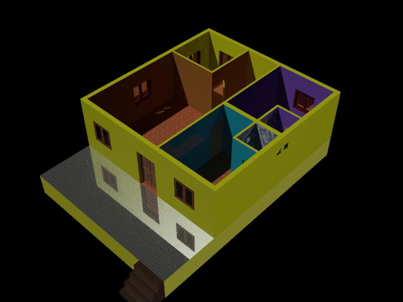Ground Floor Interior Design 3d Cad Model Library Grabcad