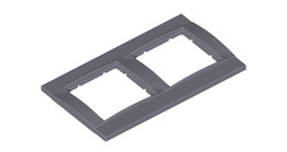 Wall socket frames and mounting plates