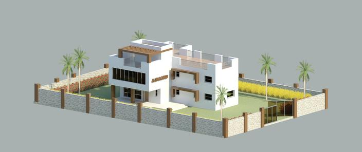 Anand bunglow for Revit architecture modern house design