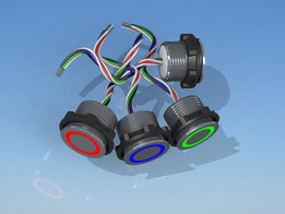 Piezo electric pushbutton switches