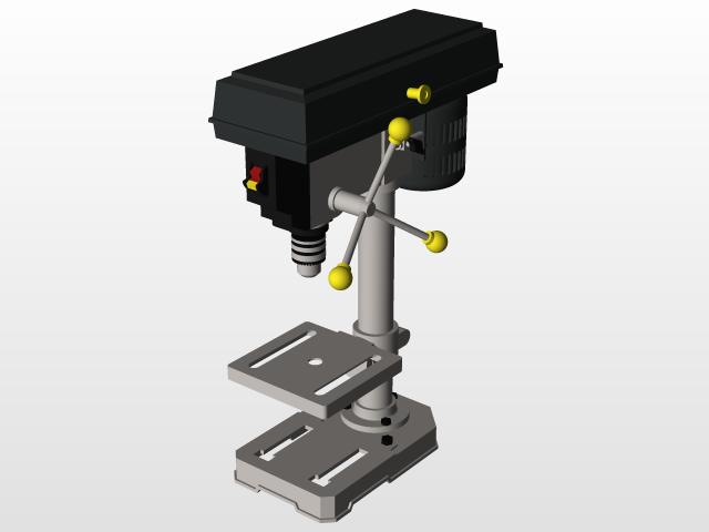 Benchtop Drill Press | 3D CAD Model Library | GrabCAD