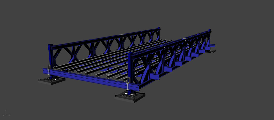 Steel structure - Bailey Bridge | 3D CAD Model Library