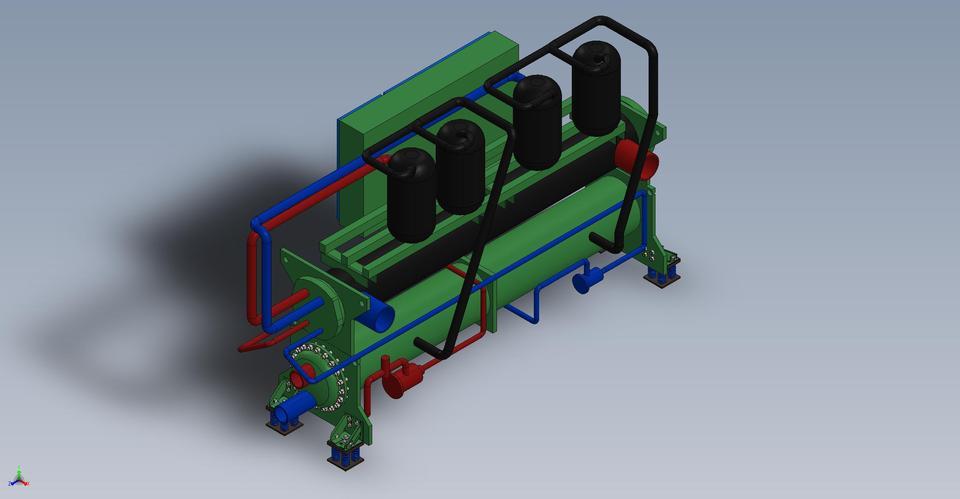 York chiller_ Model-YCWL0200HE- | 3D CAD Model Library | GrabCAD