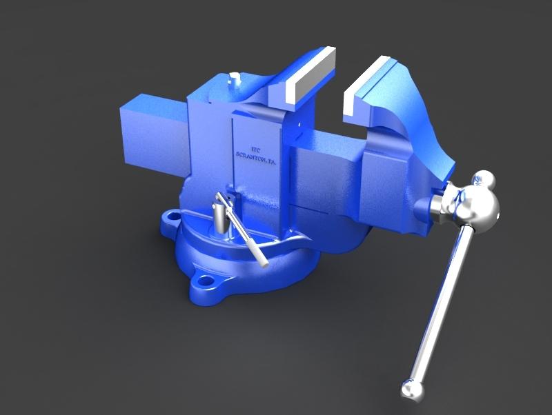 Swivel Bench Vise | 3D CAD Model Library | GrabCAD