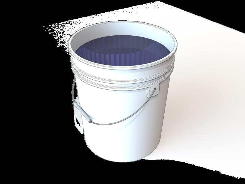 5 Gallon Bucket 3d Cad Model Library Grabcad