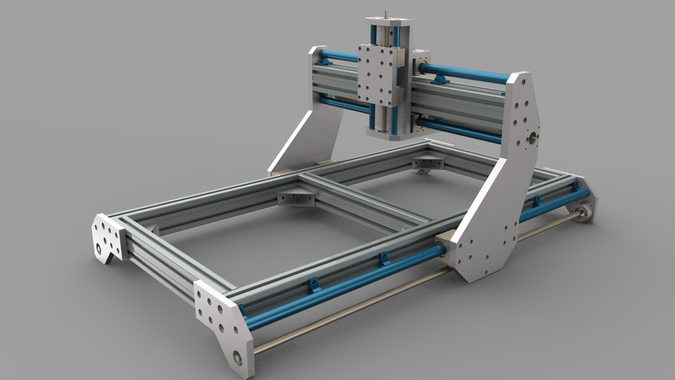 another cnc router | 3D CAD Model Library | GrabCAD