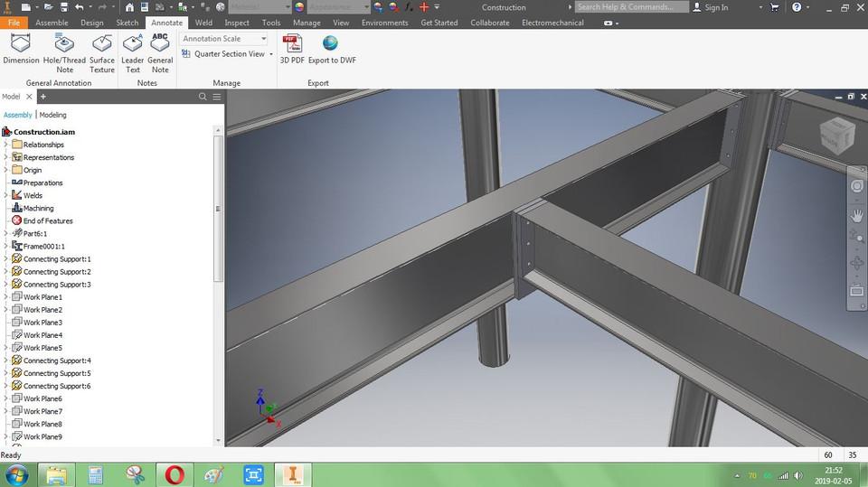 Steel Construction | 3D CAD Model Library | GrabCAD