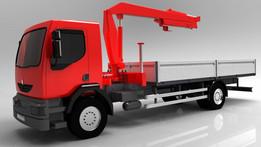 Renault Midlum truck and hydraulic manipulator Hiab 288-EP-2Duo