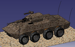 8x8 LAV vehicle dynamics + longitudinal/lateral controls