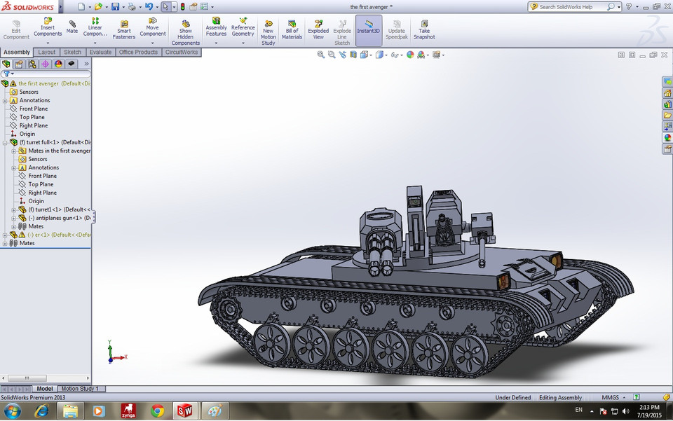 Scorpion 5 Solidworks 3d Cad Model Grabcad