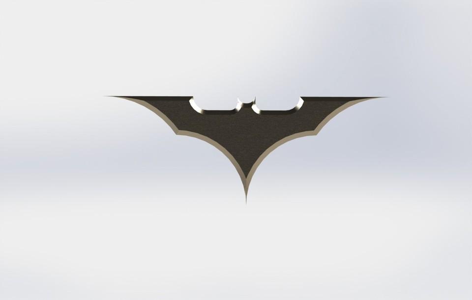 batarang 3d cad model library grabcad