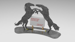 """The """"Kissing Horses"""" Business Card Holder, business card nature puzzle, 3d holder metalcraftdesign"""