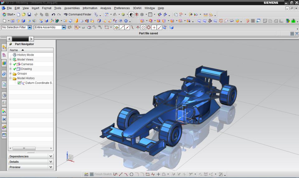 Mark Webber Williams F1 Car   3D CAD Model Library   GrabCAD