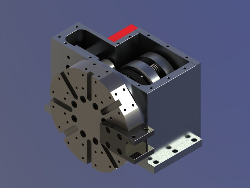 Cnc Lathe Turret 3d Cad Model Library Grabcad