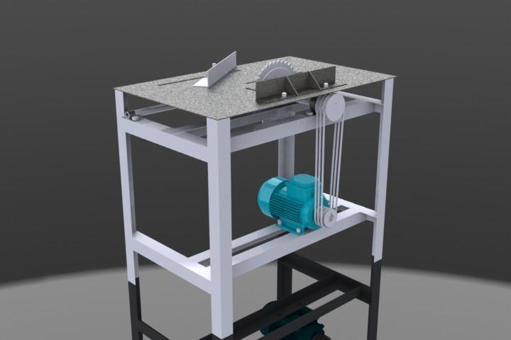 Sierra circular solidworks 3d cad model grabcad - Sierra de banco ...