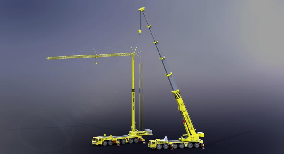 Mobile Cranes | 3D CAD Model Library | GrabCAD
