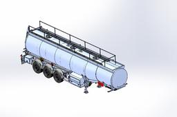 Semi-trailer tank 30 м3 Compozzi