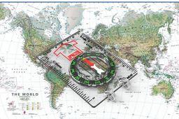orienteering map compass