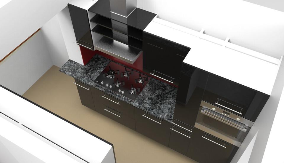 Petite Cuisine Little Kitchen 3d Cad Model Library Grabcad