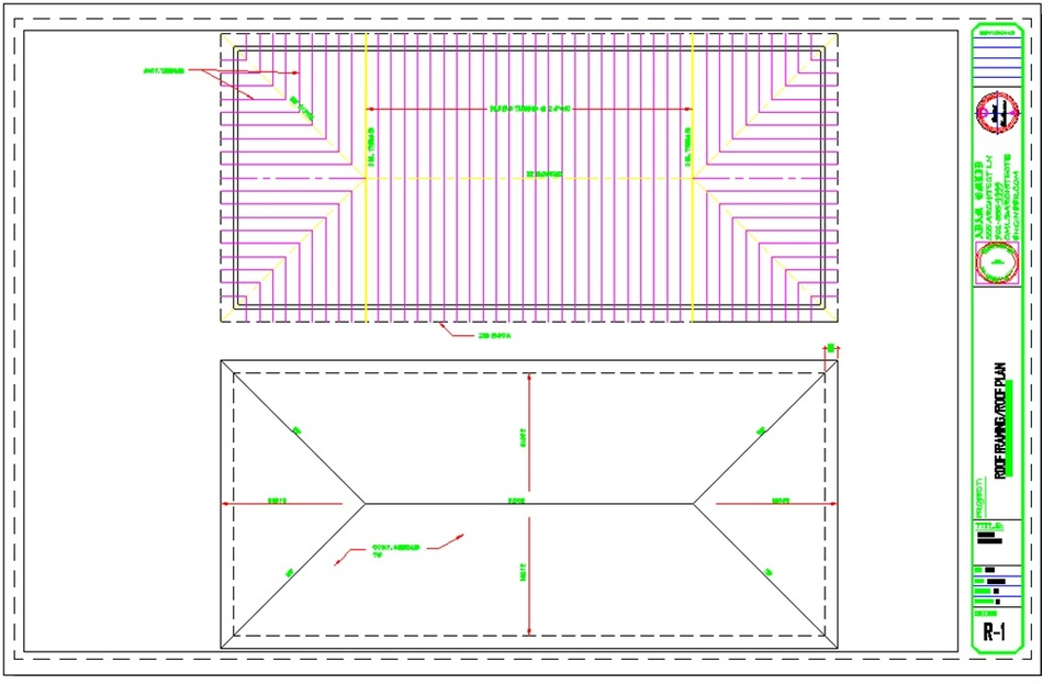 Roof framing plan autocad images for Roof plan drawing