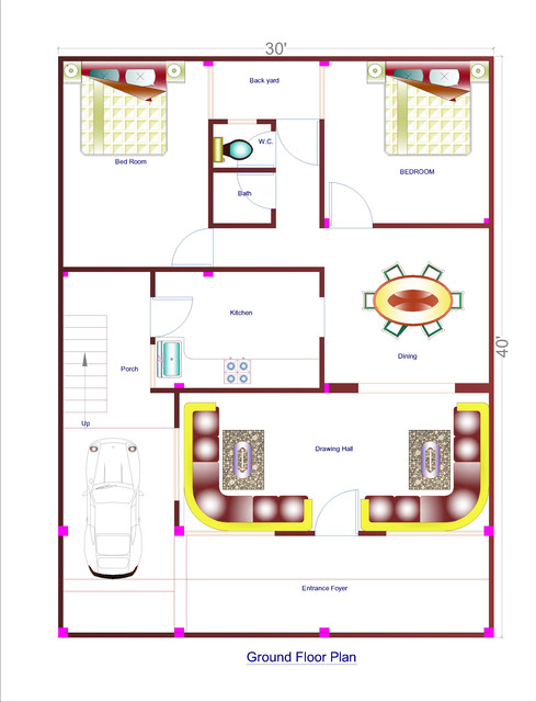 30*40 house plans | 3D CAD Model Library | GrabCAD