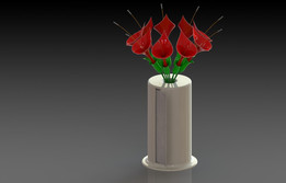 Paper Towel Center Piece vase