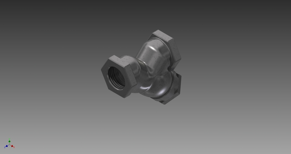 Y Strainers 3d Cad Model Library Grabcad