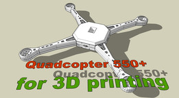 Quadcopter 550+ for 3D printing