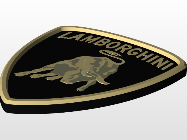 Lamborghini Logo 3d Cad Model Library Grabcad