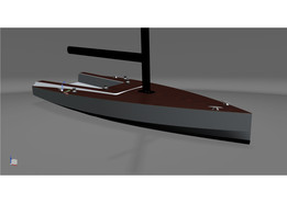 Sailing yacht hull surface 850