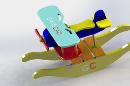 Rocking airplane kids toy