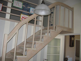 Children's wooden staircase