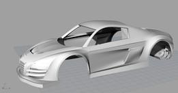 Audi R8 Racing Scalextric Model