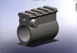 AR15 Adjustable gas blocks with Picatinny rail