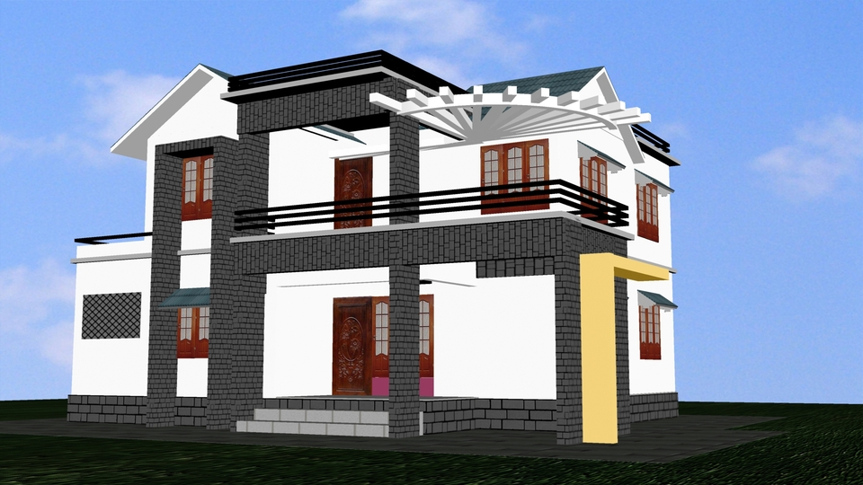 Model house 3ds max