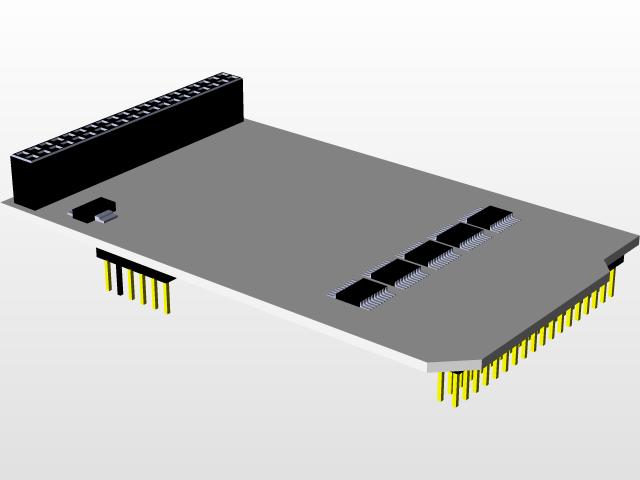 TFT Mega Touch LCD Shield | 3D CAD Model Library | GrabCAD