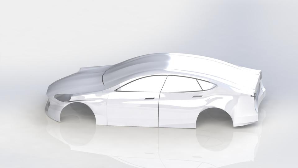 Tesla Model S | 3D CAD Model Library | GrabCAD