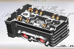 Yamaha TRX 850 cylinder head crankcase
