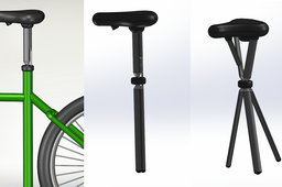 Transformable bicycle seat