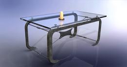 Glass 'n steel table