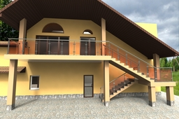 exterior of the building. option handrail №1