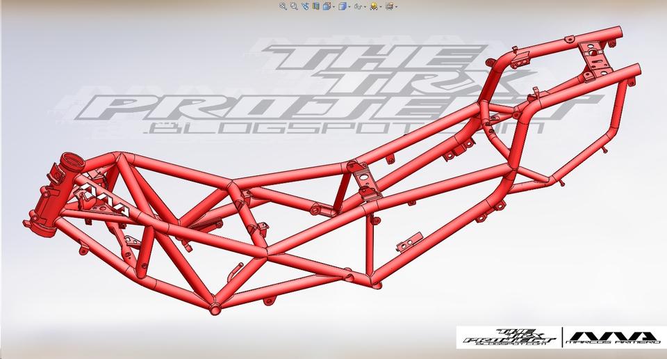 Yamaha TRX 850 Trellis frame | 3D CAD Model Library | GrabCAD